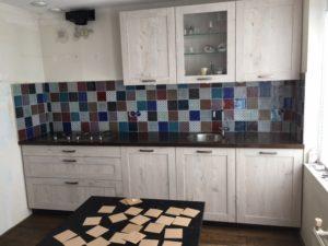 Keukenwand in patroon