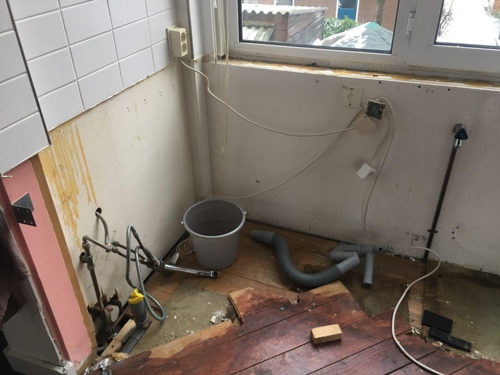 Voorbereiding plaatsing Keuken