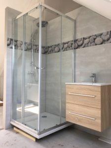 Nieuwe badkamer op zolderruimte